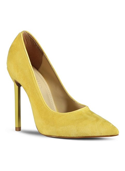 Marjin Topuklu Ayakkabı Sarı